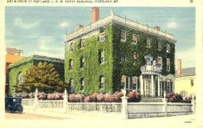 L.D.M. Sweat Memorial - Portland, Maine ME Postcard
