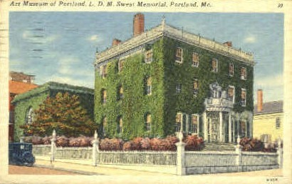 L.D.M. Sweat Memorial - Portland, Maine ME Postcard