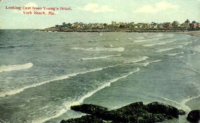 looking East from Young's Hotel - York Beach, Maine ME Postcard