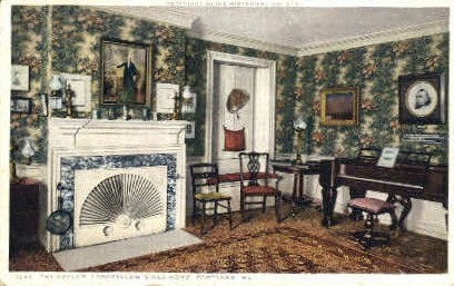 The Parlor, Longfellow's Old Home - Portland, Maine ME Postcard