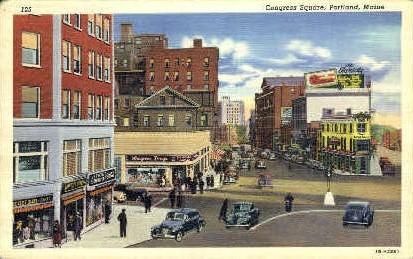 Congress Square - Portland, Maine ME Postcard