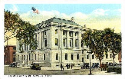 County Court House - Portland, Maine ME Postcard
