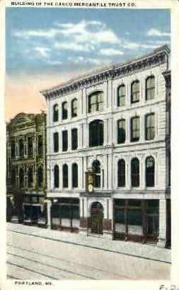 Building of the Casco Mercantile Trust - Portland, Maine ME Postcard