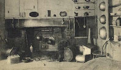 Kitchen, Wadsworth Longfellow House - Portland, Maine ME Postcard