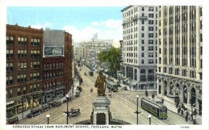 Congress St. - Portland, Maine ME Postcard