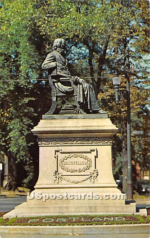 The Longfellow Statue - Portland, Maine ME Postcard