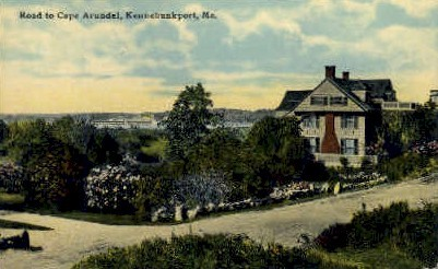Road to Cape Arundel - Kennebunkport, Maine ME Postcard
