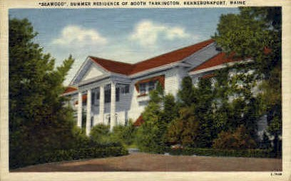 Summer Residence of Booth Tarkington - Kennebunkport, Maine ME Postcard