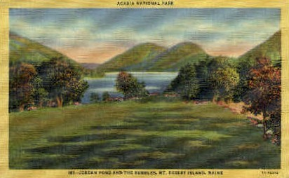 Jordan Pond & the Bubbles - Acadia National Park, Maine ME Postcard