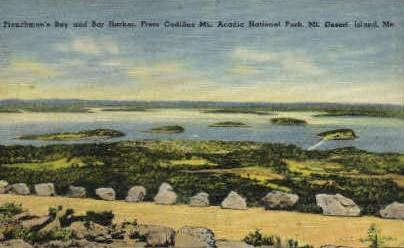 Frenchmans Bay & Bar Harbor - Mt. Desert Island, Maine ME Postcard