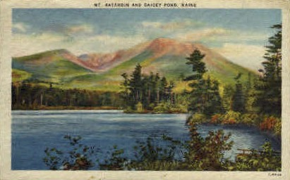 Daicey Pond - Mt. Katahdin, Maine ME Postcard