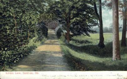 Lovers Lane - Gardiner, Maine ME Postcard