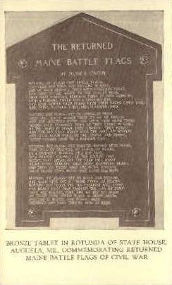 Bronze Tablet, State House - Augusta, Maine ME Postcard