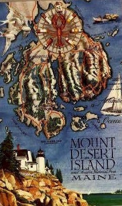 . - Mt. Desert Island, Maine ME Postcard