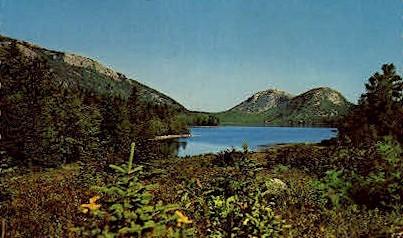 The Bubbles, Jordan Pond - Mt. Desert Island, Maine ME Postcard