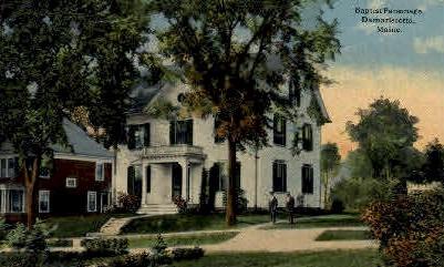 Baptist Parsonage - Damariscotta, Maine ME Postcard