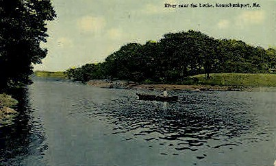 River near the Locks - Kennebunkport, Maine ME Postcard