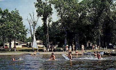 Willow Beach Camps - China, Maine ME Postcard