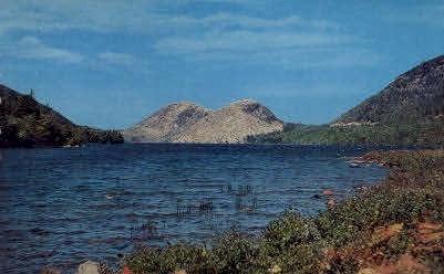 Jordon Pond & The Bubbles - Mt. Desert Island, Maine ME Postcard