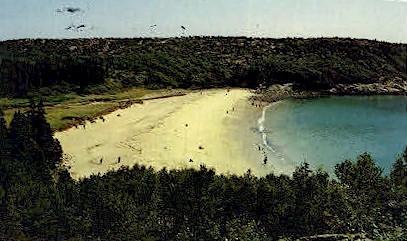 Sand Beach - Acadia National Park, Maine ME Postcard