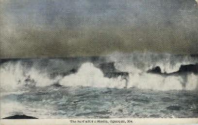 Surf after Storm - Ogunquit, Maine ME Postcard