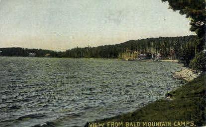 Bald Mt. Camps - Misc, Maine ME Postcard
