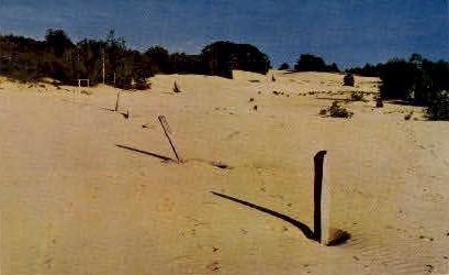 Original Stone Boundary Line - Freeport, Maine ME Postcard