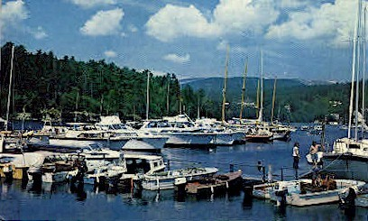 Marina  - Acadia National Park, Maine ME Postcard