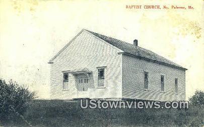 Baptist Church - North Palermo, Maine ME Postcard