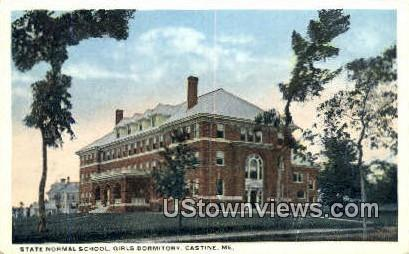 State Normal School, Girls Dorm - Castine, Maine ME Postcard