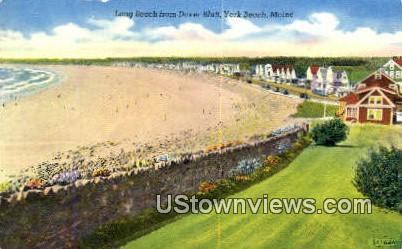 Long Beach, Dover Blufff - York Beach, Maine ME Postcard