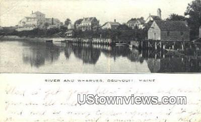 River & Wharves - Ogunquit, Maine ME Postcard