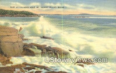 Thunder Hole - Mt. Desert Island, Maine ME Postcard