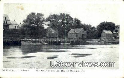 Old Wharves & Fish Houses - Ogunquit, Maine ME Postcard
