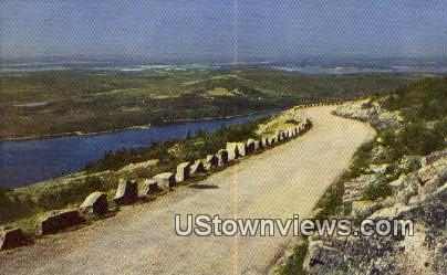 Motor Highway, Cadillac Mountain - Acadia National Park, Maine ME Postcard