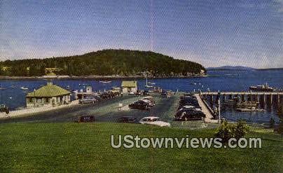 bar Harbor & Municipal Pier - Mt. Desert Island, Maine ME Postcard