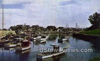 Perkins Cove & Bridge - Ogunquit, Maine ME Postcard