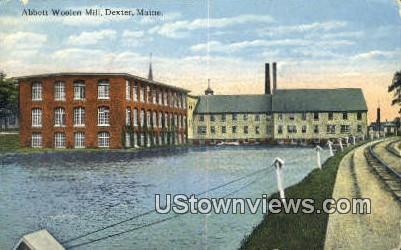 Abbott Woolen Mill - Dexter, Maine ME Postcard