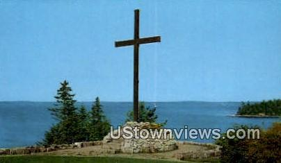 The Oblate Cross - Mt. Desert Island, Maine ME Postcard