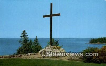 The Oblate Cross - Mt. Desert Island, Maine ME Postcard