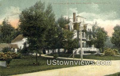Residence of Hon. Waldo Pettengiff - Rumford Falls, Maine ME Postcard
