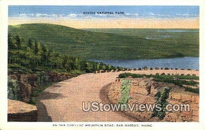 Cadillac Mountain Road - Acadia National Park, Maine ME Postcard