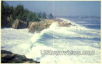 Storm, Ocean Drive - Acadia National Park, Maine ME Postcard