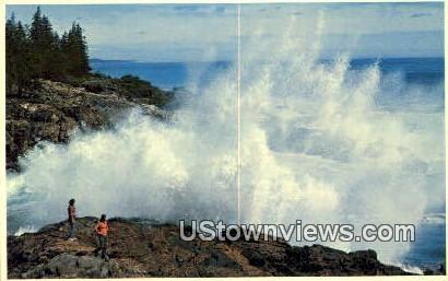 Pounding Surf, Ocean Drive - Acadia National Park, Maine ME Postcard
