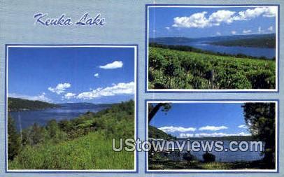 Keuka Lake, ME,     ;     Keuka Lake, Maine Postcard
