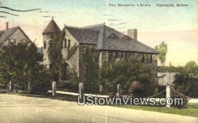 Memorial Library - Ogunquit, Maine ME Postcard