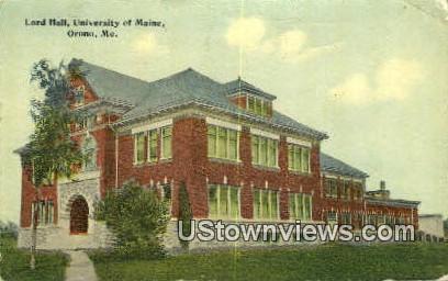 Lord Hall, University of Maine - Orono Postcard