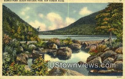 Bubble Pond - Acadia National Park, Maine ME Postcard