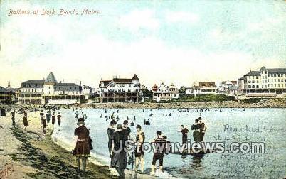 Bathers - York Beach, Maine ME Postcard