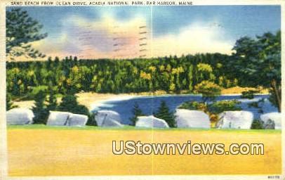 Sand Beach, Bar Harbor - Acadia National Park, Maine ME Postcard